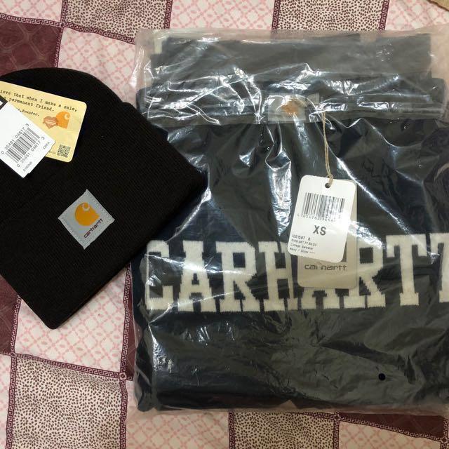 [全新] carhartt毛衣+毛帽組合❤️