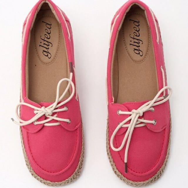 【全新】日系品牌 glifeed 粉色休閒鞋