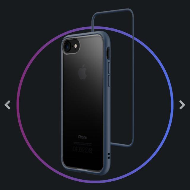 犀牛盾 Mod iphone8手機殼-靛藍色(加贈透明背板*1)