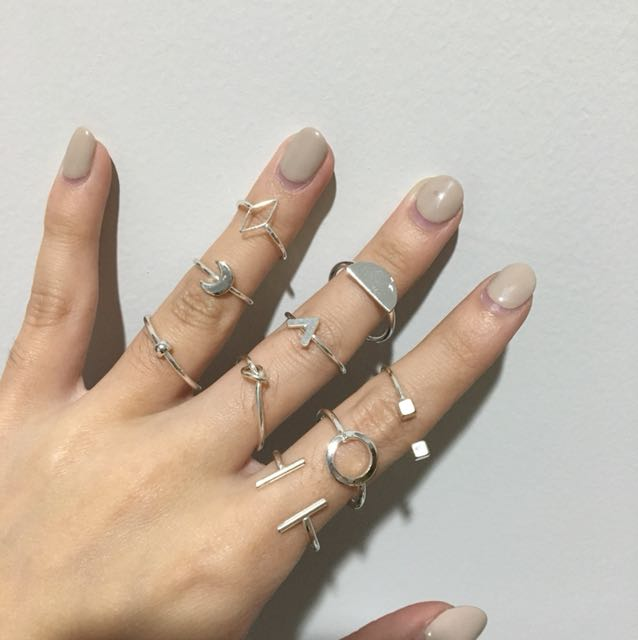 A Pack of Silver Rings