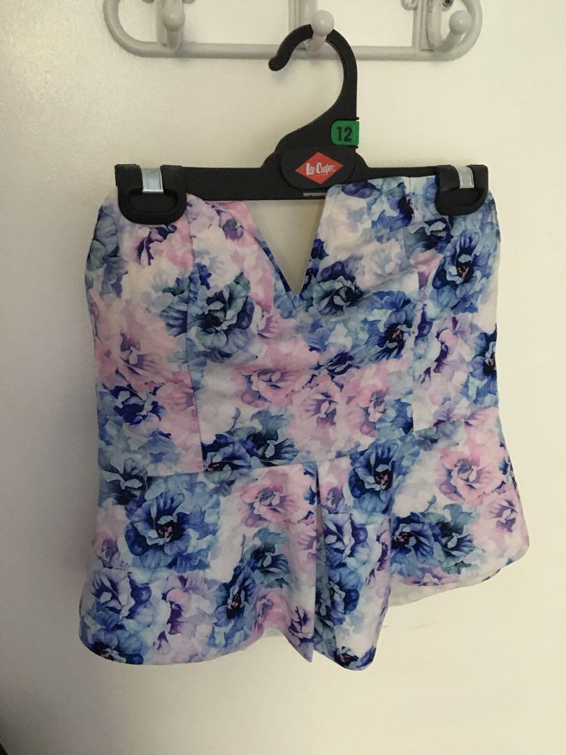 ALLY floral bustier top