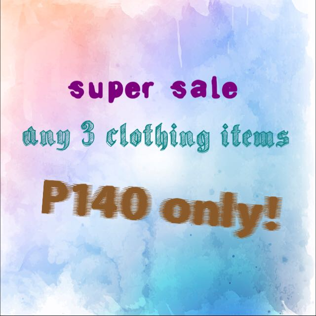 Any 3 clothing items P140 + shipping