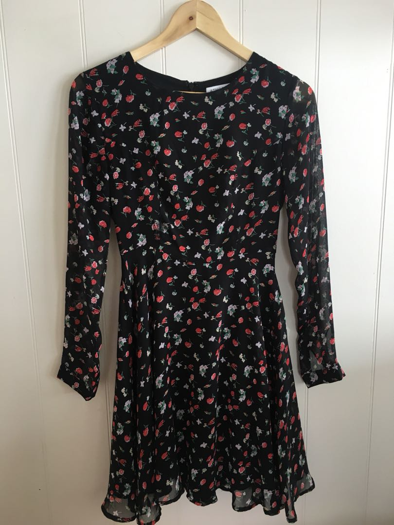 Atmos&here floral long sleeve dress size 6