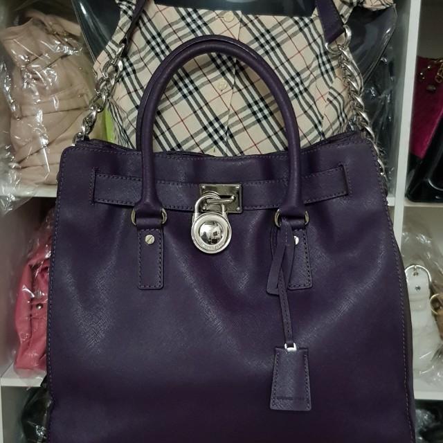 Authentic Michaek Kors Hamilton 2way Bag (C#MK-08)