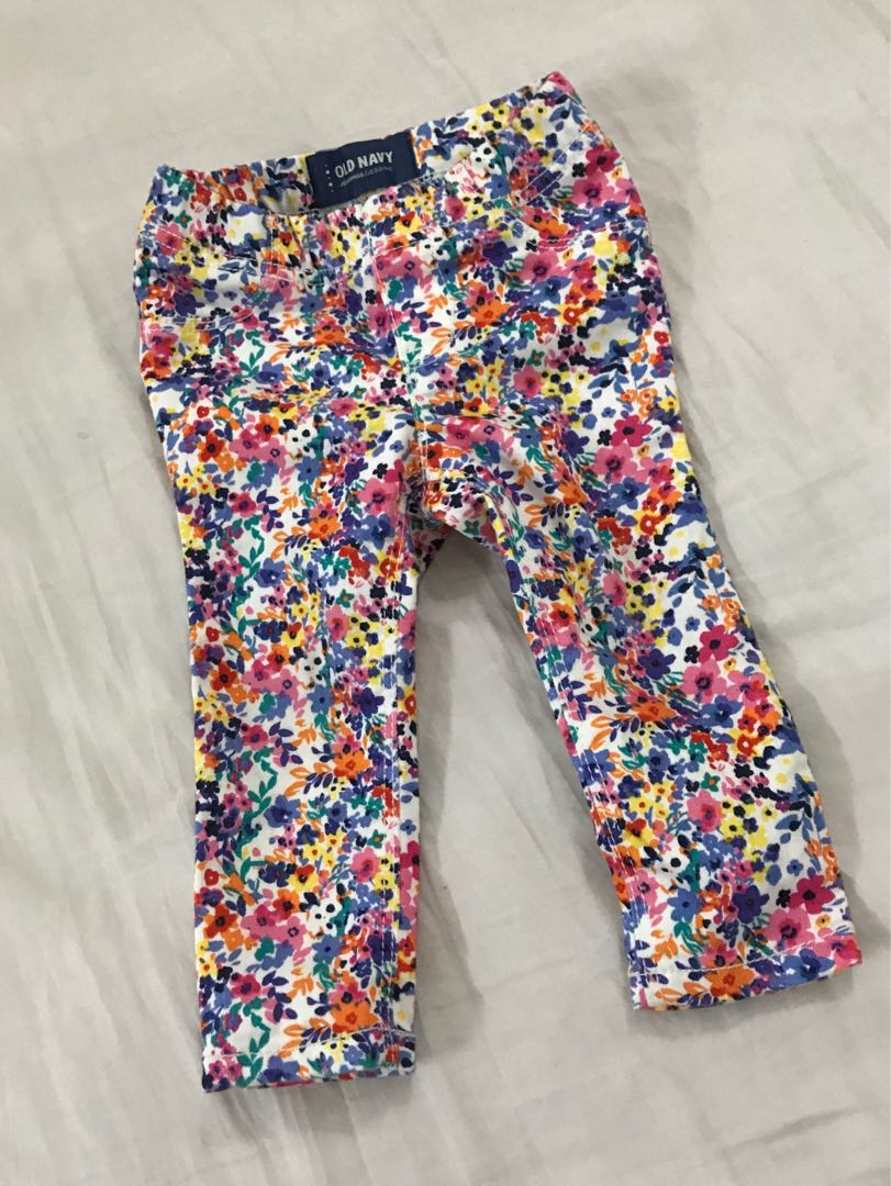 Authentic Old Navy Floral baby jeans
