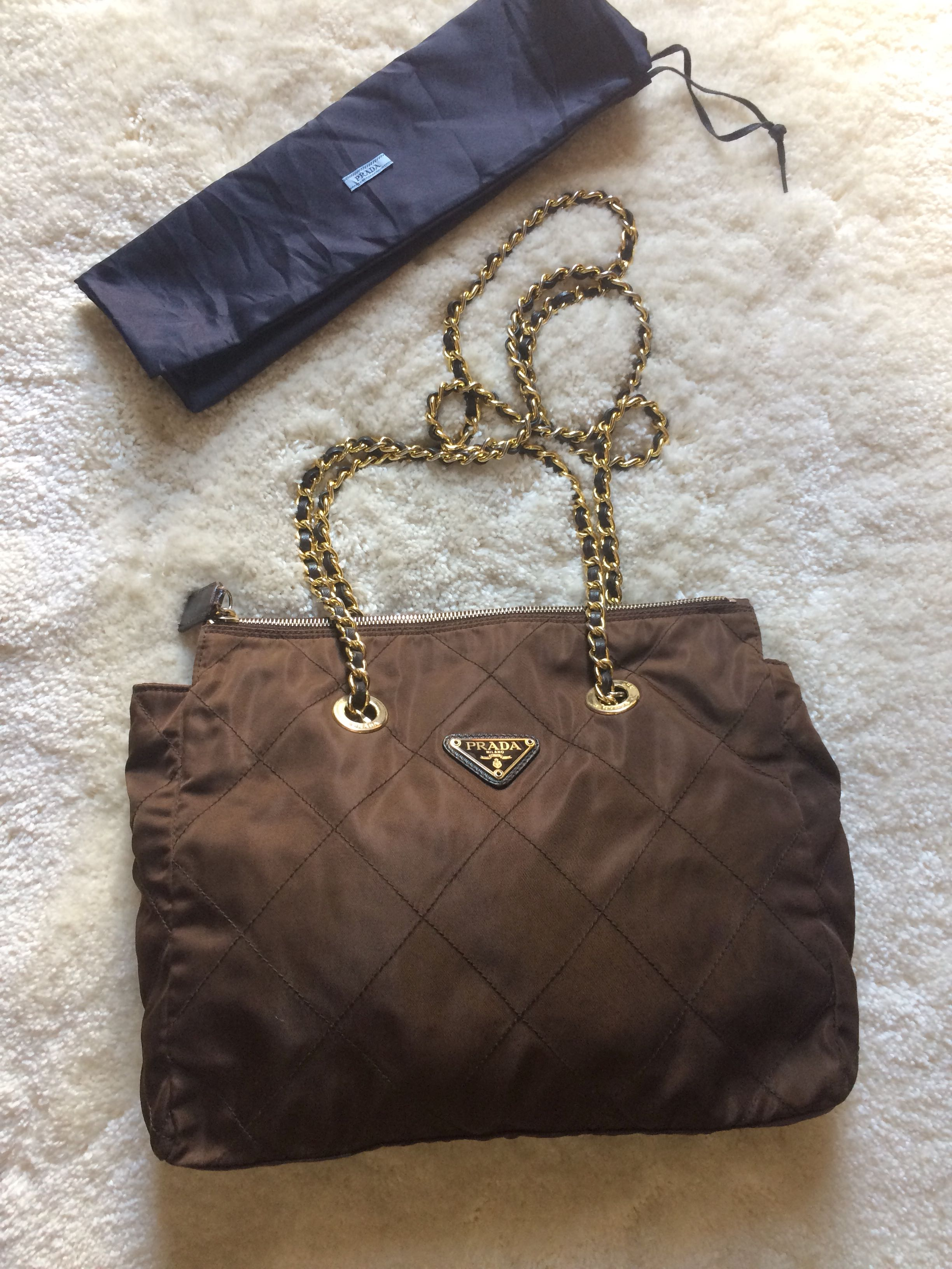 Authentic Prada Chain Bag With Dustbag
