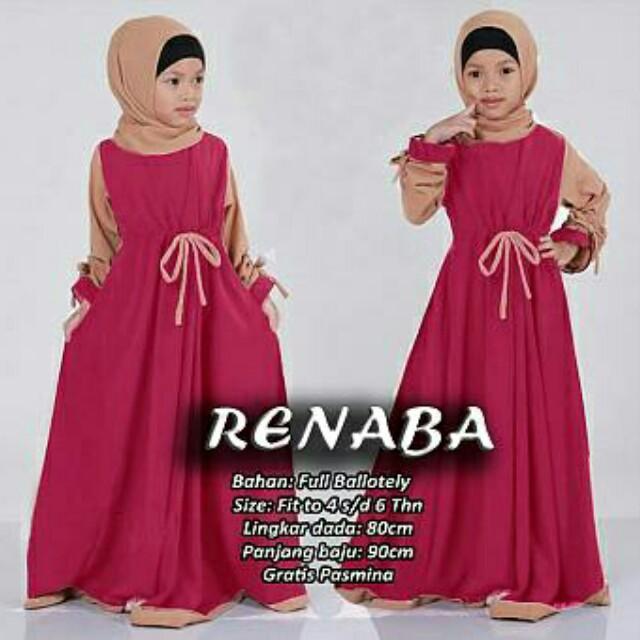 Baju Gamis Anak Renaba Set 2in1 Babies Kids Girls Apparel On