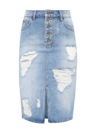 Bardot Jessa high waisted denim skirt