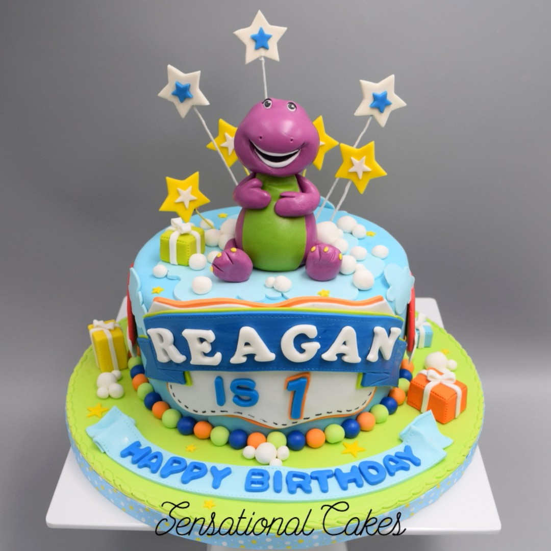 Stupendous Barney 3D Cake Singapore 1St Year Old Baby Cake Singapore Personalised Birthday Cards Cominlily Jamesorg