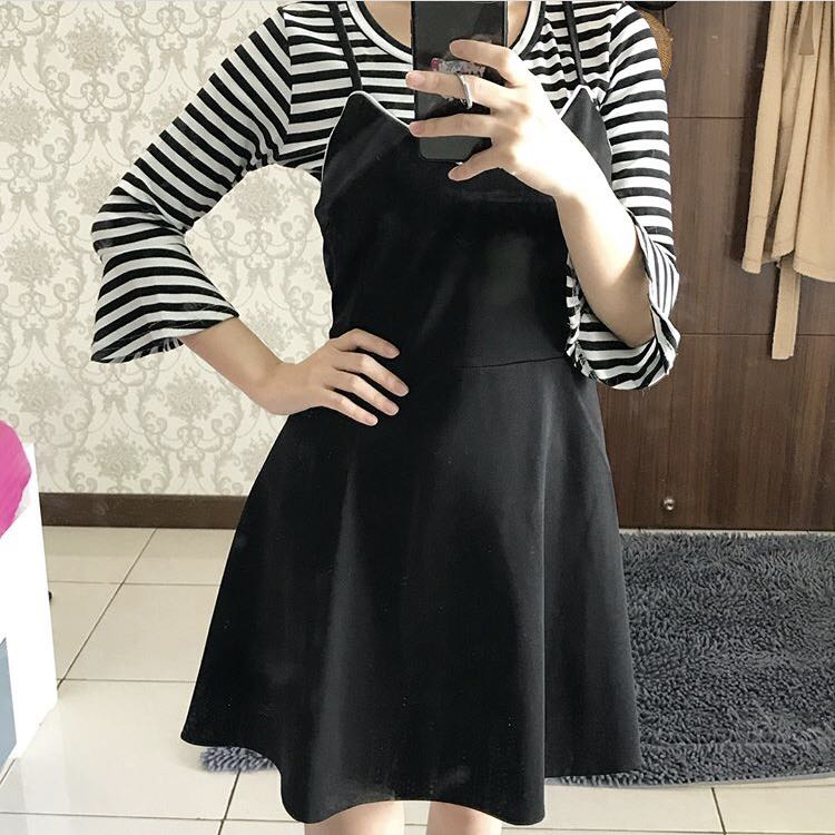 Black Stripes Dress (+inner)