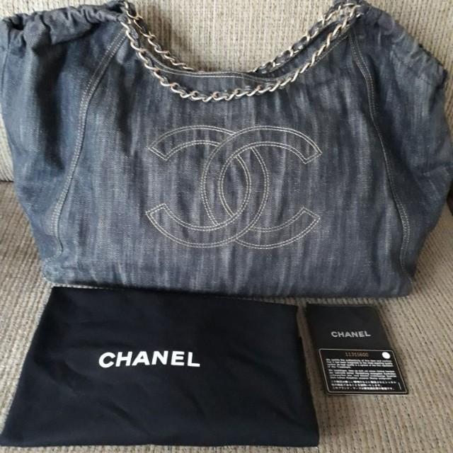 Chanel Cocos Cabas Denim