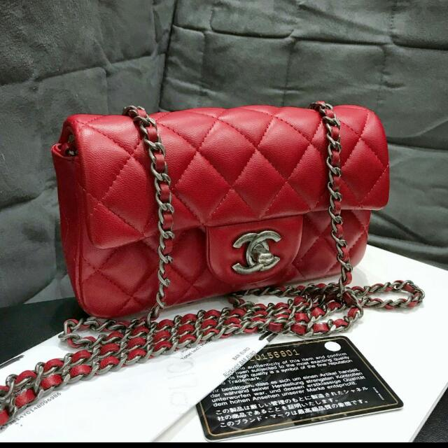 Chanel mini rectangle red #20
