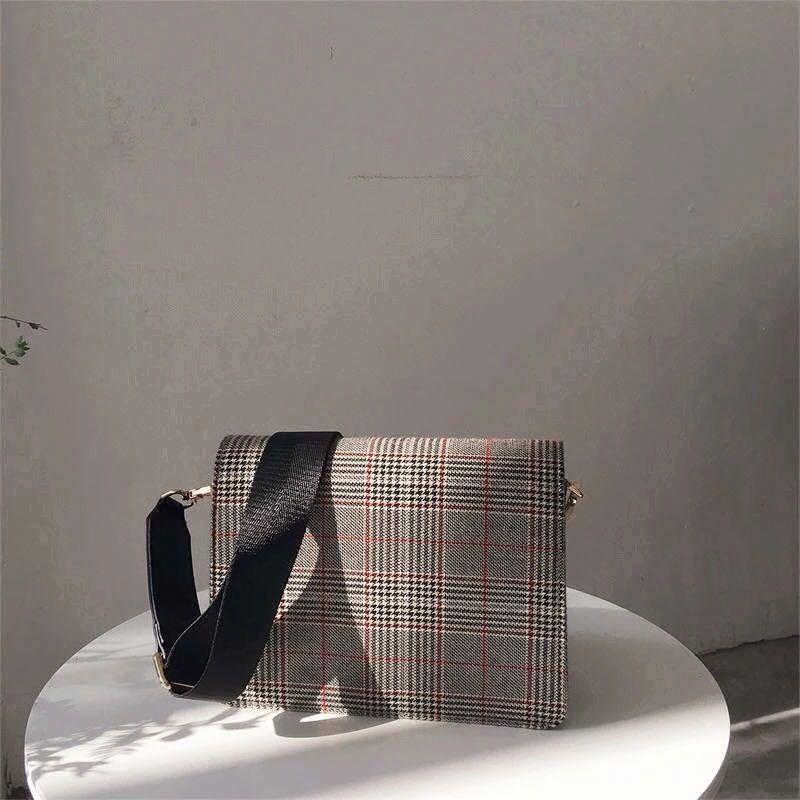 Checkered Sling Crossbody Bag