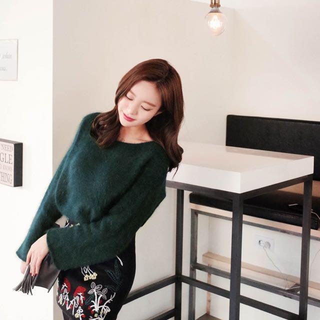 #換季五折!!CherryKoko 綠色毛衣
