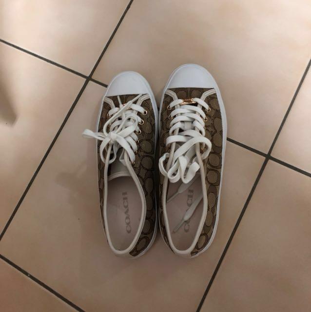 Coach帆布休閒鞋