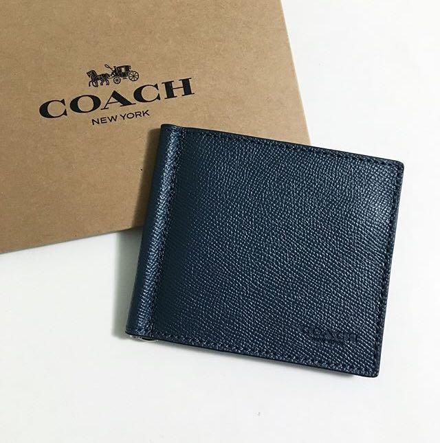 411e1a17 Coach Mens Money Clip Wallet on Carousell