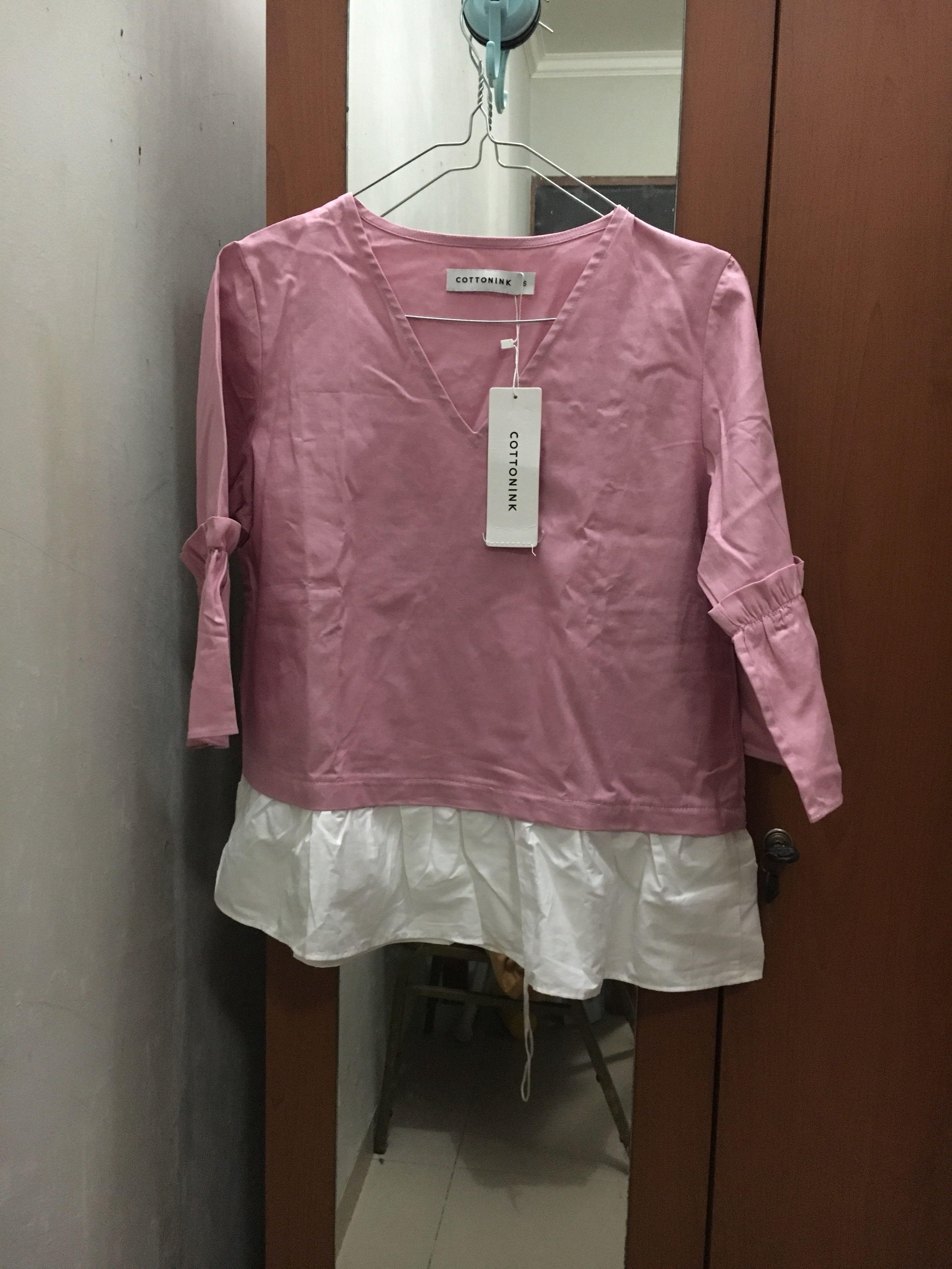 CottonInk Pink Peytra Top