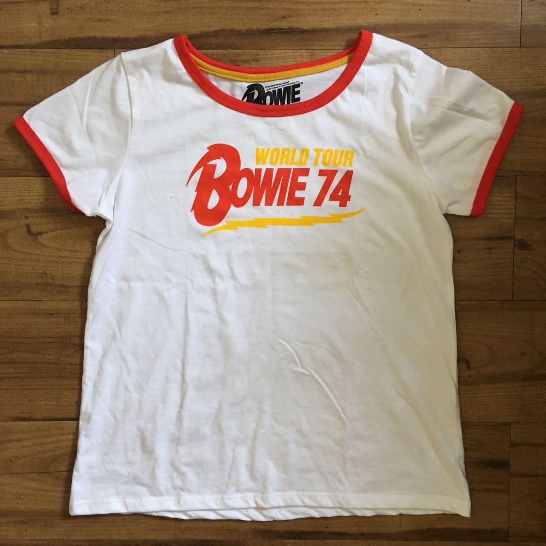David Bowie retro ringer tee
