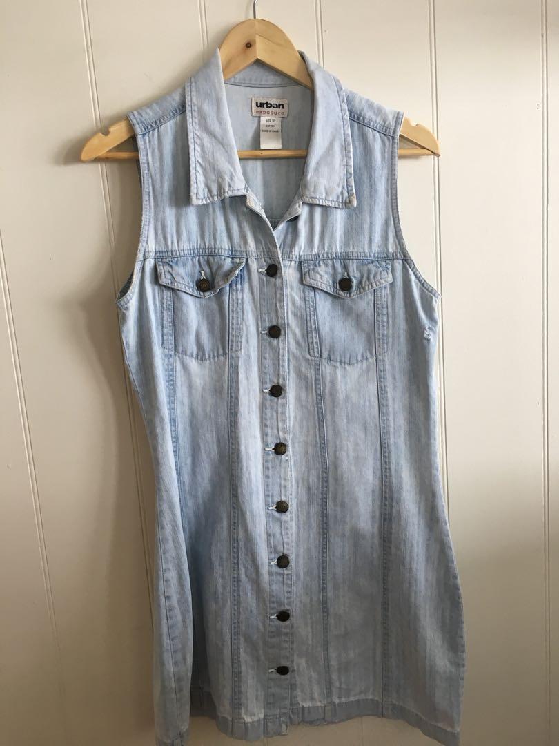 Denim button up dress size 12