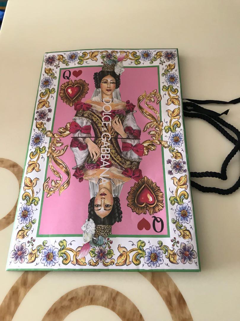 Dolce n Gabbana paper bag (queen) a26e4d04e3e28