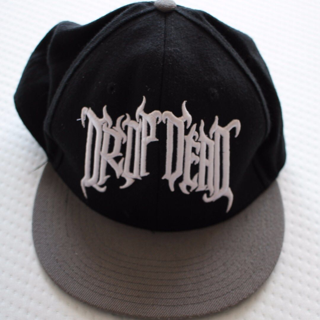 Drop Dead Clothing RARE! black and grey cap/hat - never been worn - Oliver Sykes (Bring Me The Horizon)