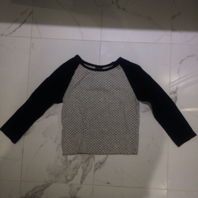 Forever 21 cropped 3/4 sleeve top