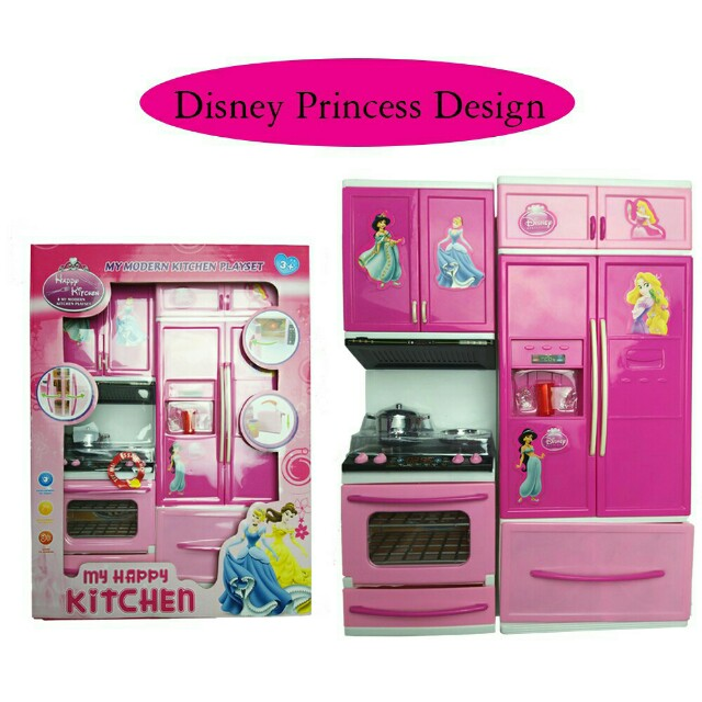 *FREE DELIVERY to WM only / Ready stock* Kids kitchen mini playset as shown design/color princess, minion. Free delivery is applied for this item.