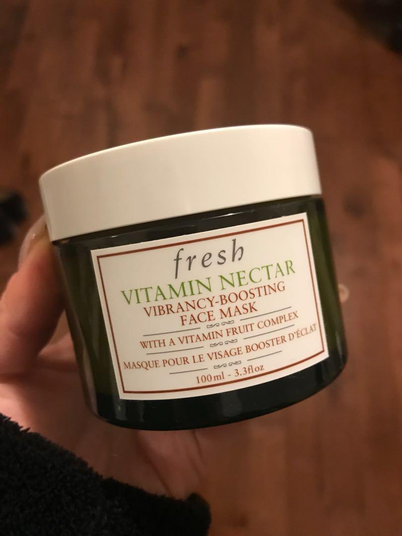 Fresh vitamin nectar mask