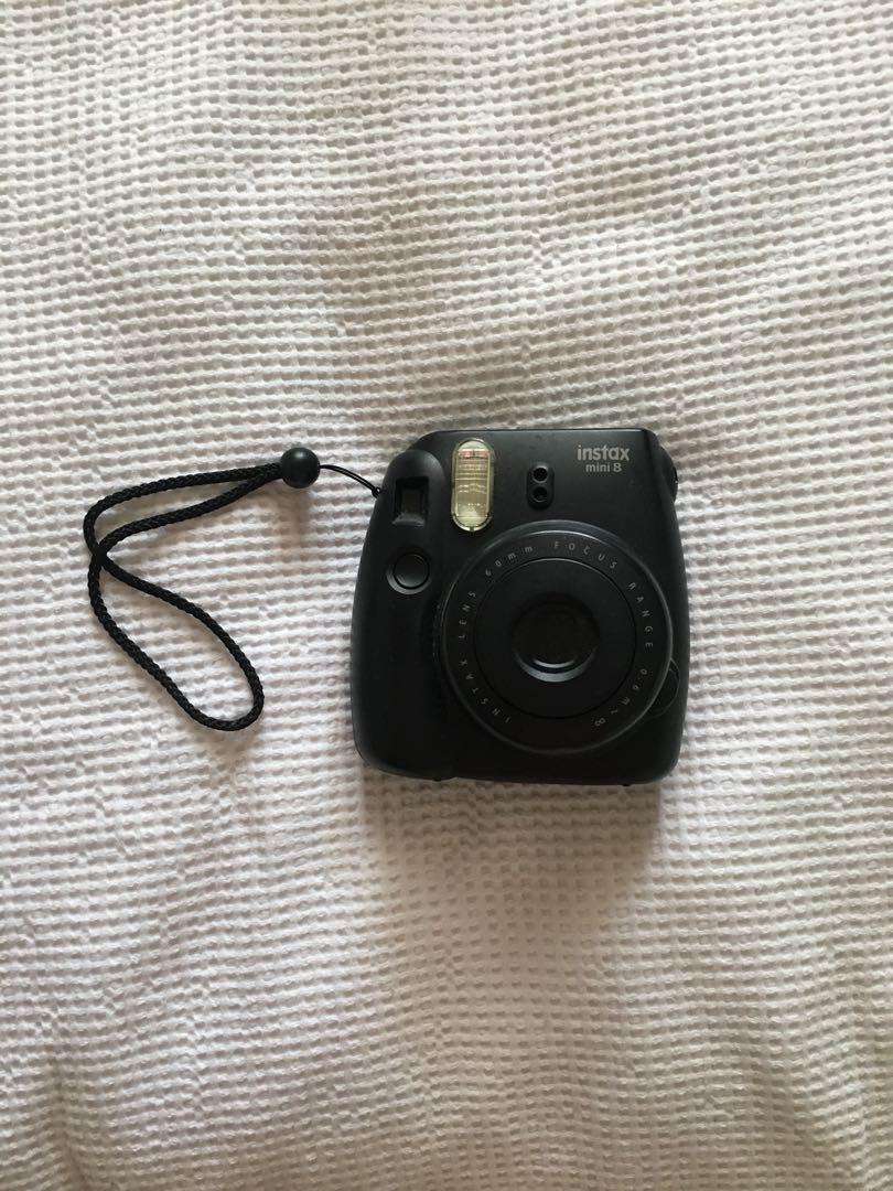 Fujifilm Instax Mini Black Polaroid Camera