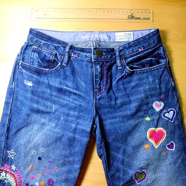 Gap 女童藍色牛仔褲