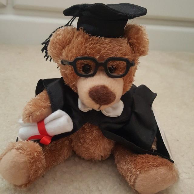 Graduation bear plush