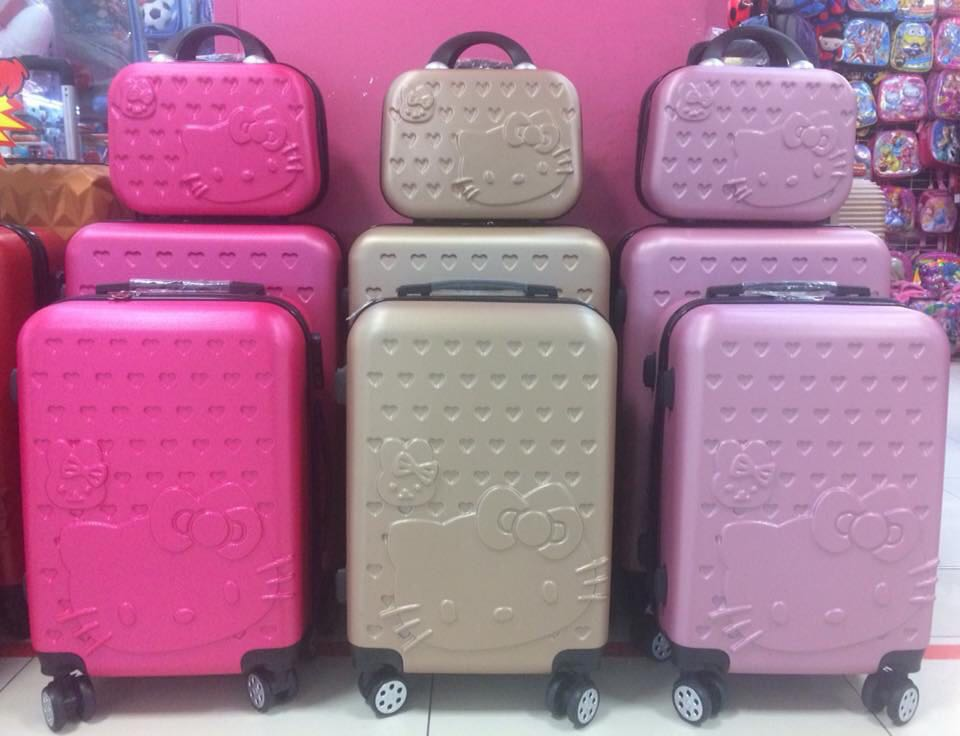 26e69e532 Hello Kitty Luggage Bag set 3 in 1, Travel, Travel Essentials, Luggage on  Carousell