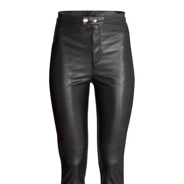H&M Leather Trousers (6, Small)