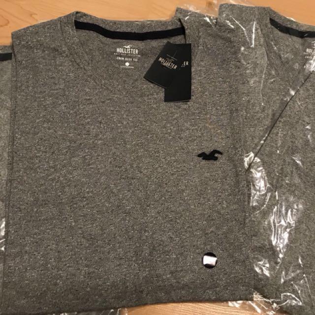 Hollister男士圓領T恤(正品 現貨 灰色)