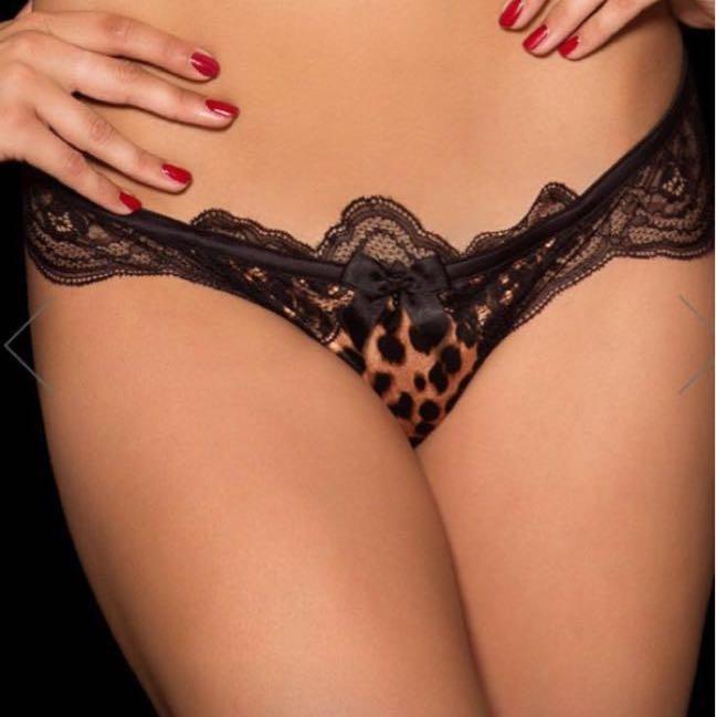 Honey Birdette Leopard Thong Size XS