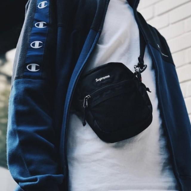 3870027b3d3 Instock] Supreme SS18 Shoulder Bag Black, Men's Fashion, Bags ...
