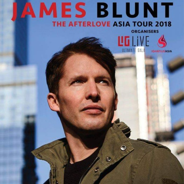 James Blunt The Afterlove Asia Tour ~ Live In KL Tickets Cat 3 (2 tix available)