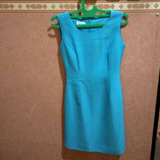 👗Keiza Baby Blue Simple Dress | Gaun Span Biru Muda
