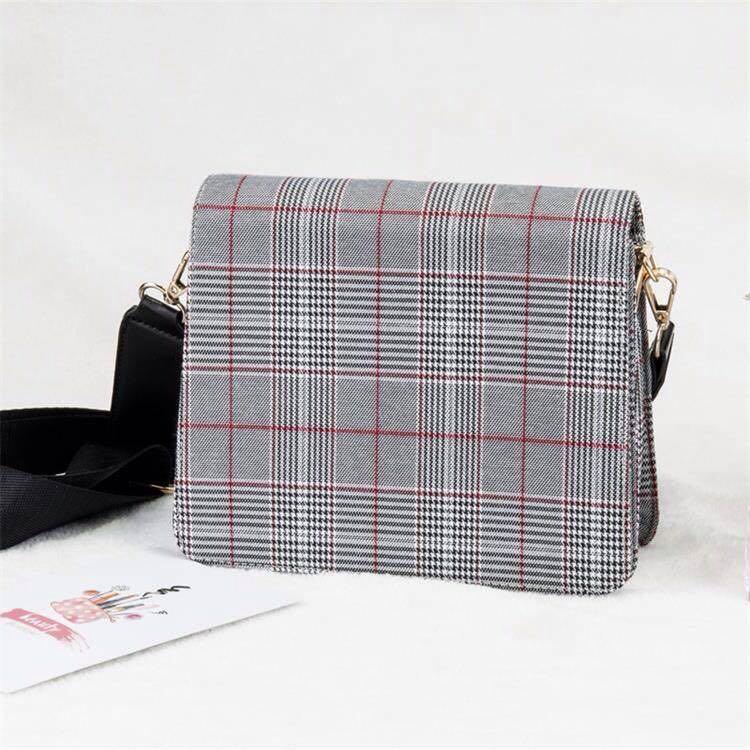 Korean British Checkered Sling Crossbody Bag