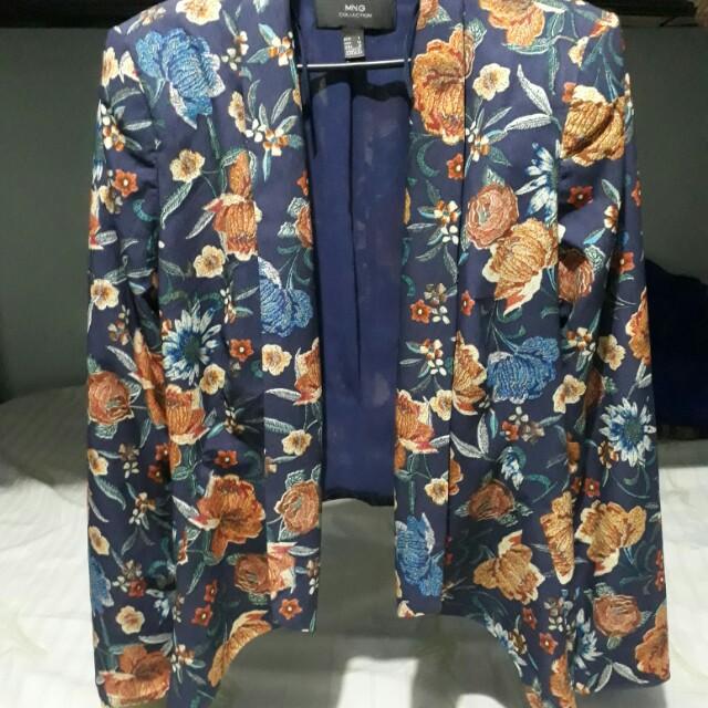 Mango floral blazer