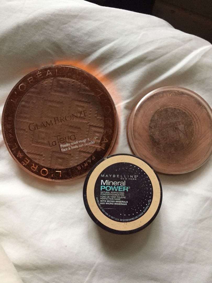 Maybelline/Loreal bronzers and powder