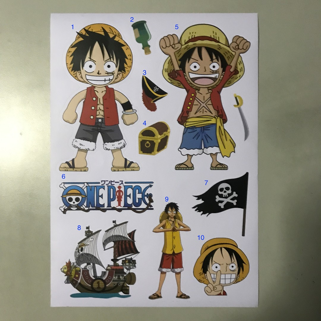 Monkey D Luffy Stickers Hobbies Toys Toys Games On Carousell
