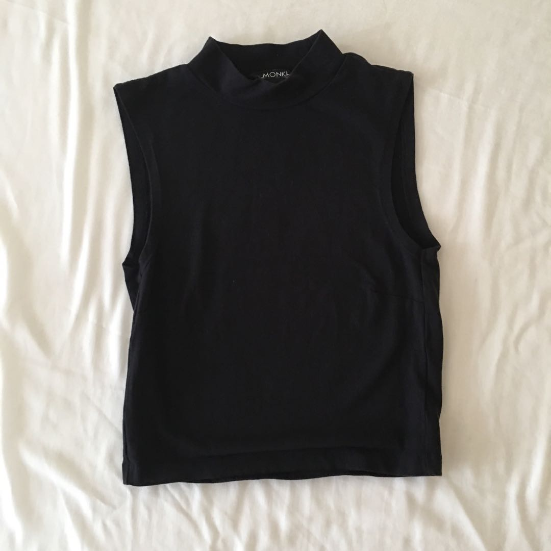 Monki High Neck Top