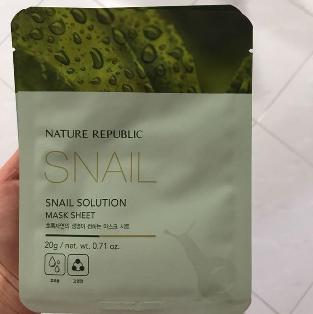 Nature republic snail mask solution mask