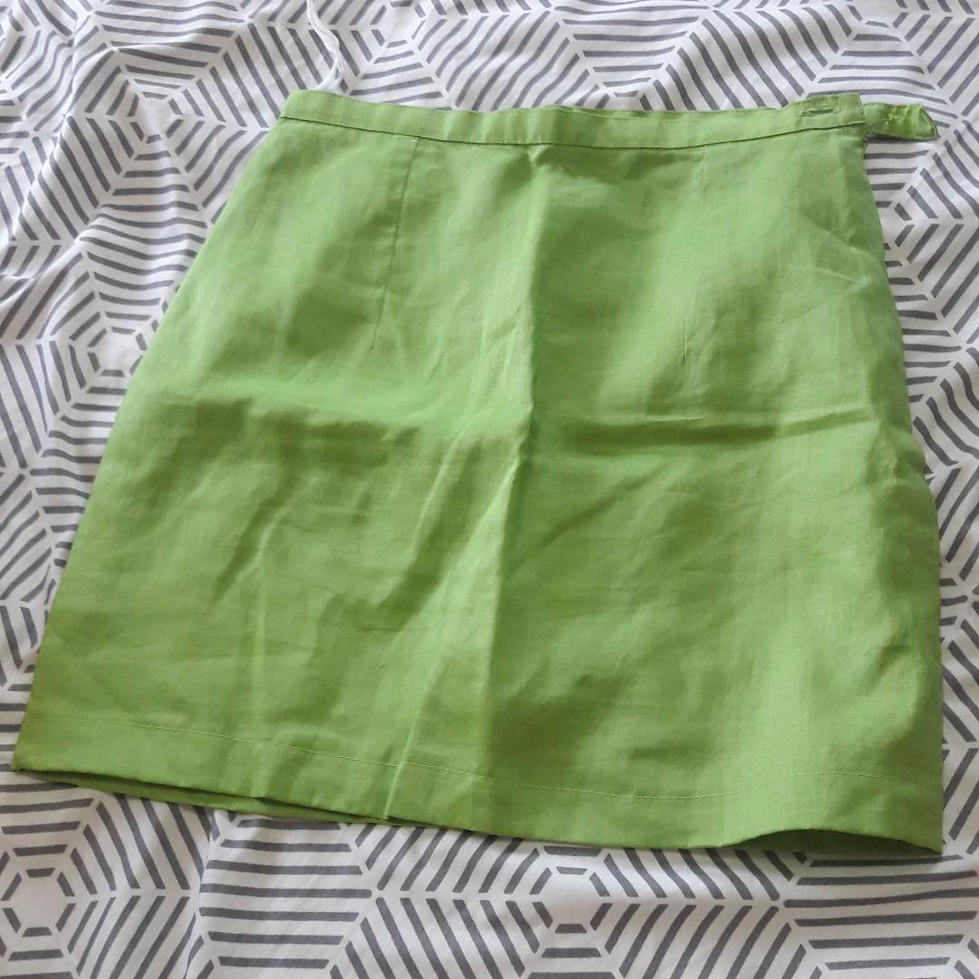 Neon Green pencil skirt