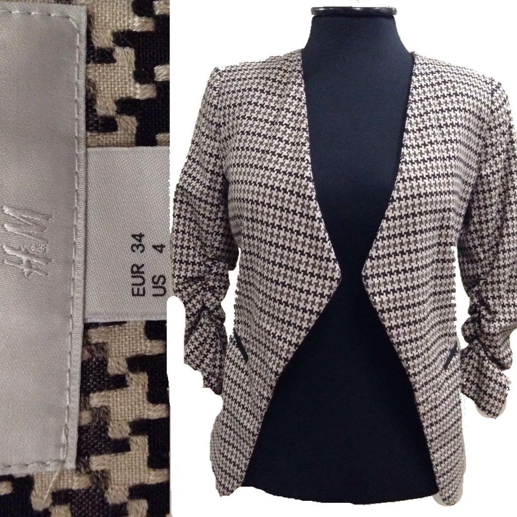 New:H&M brown blazer
