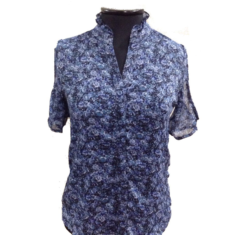 New:Shapes blue top