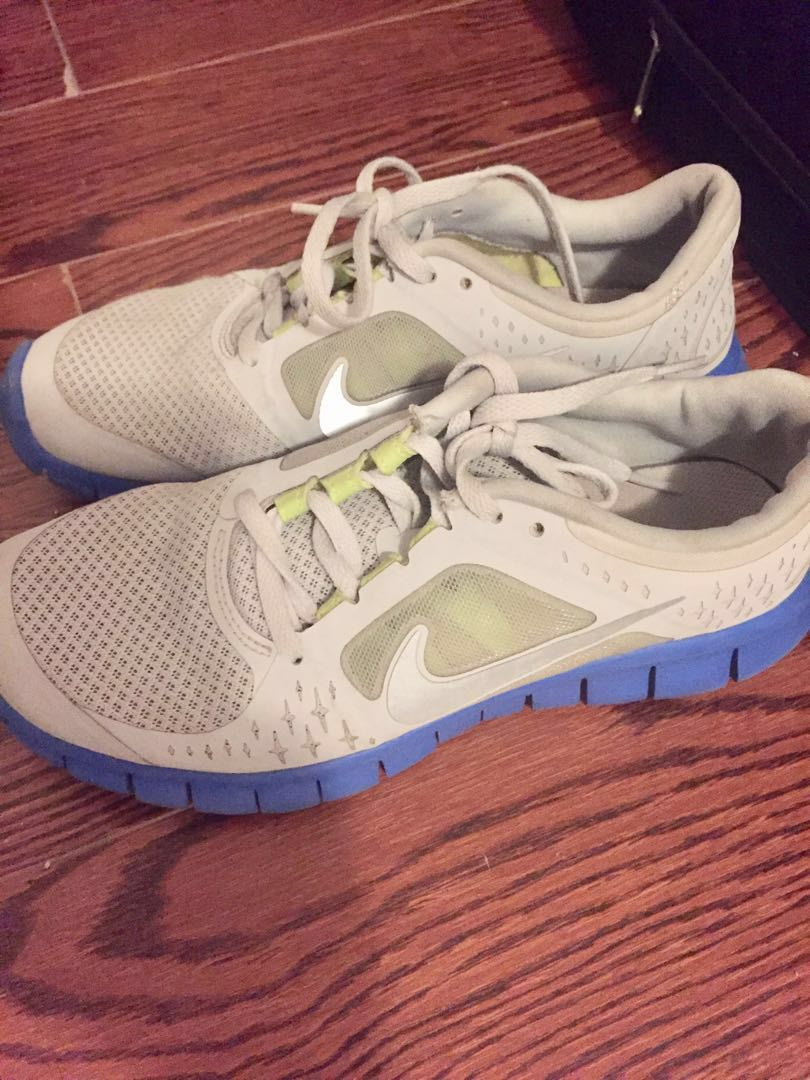 Nike, grey and blue, size 6