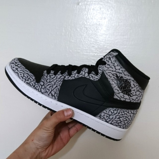 Nike jordan 1 1代 爆裂 灰 黑