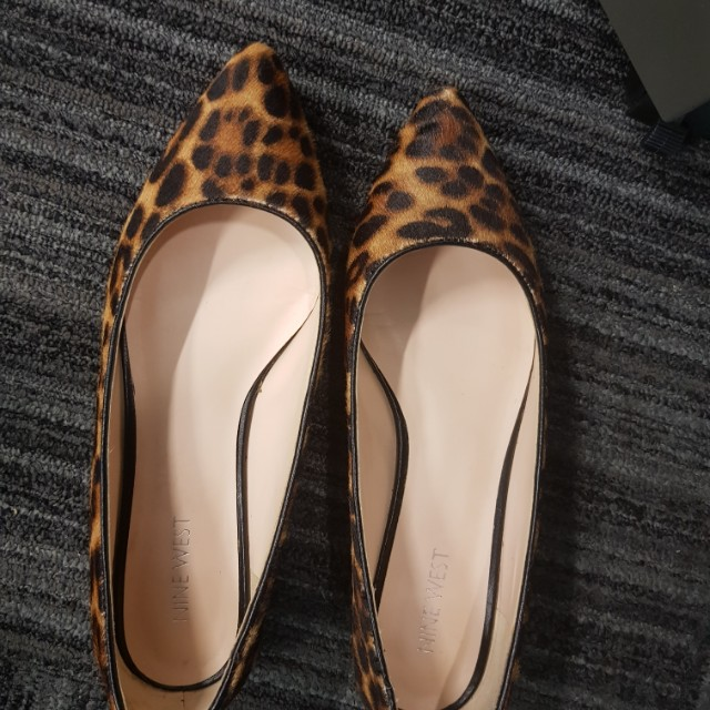 Nine West Leopard Flats
